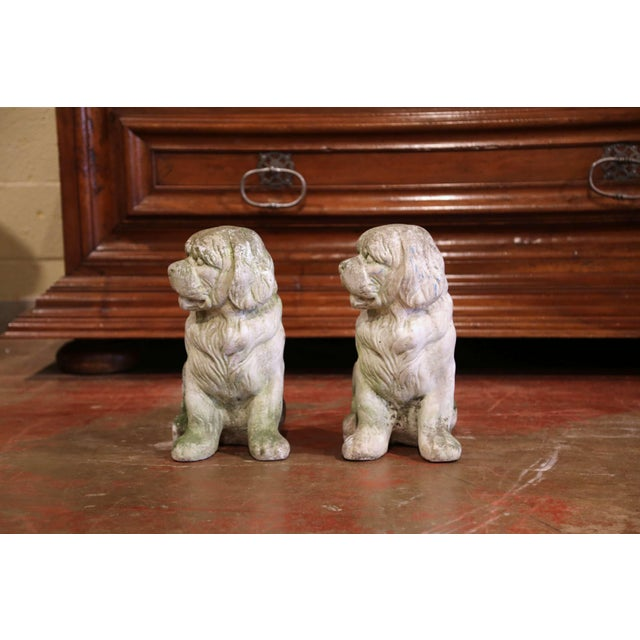 Create a memorable entrance, or add some life to your backyard with this charming pair of small dog sculptures. Found in...