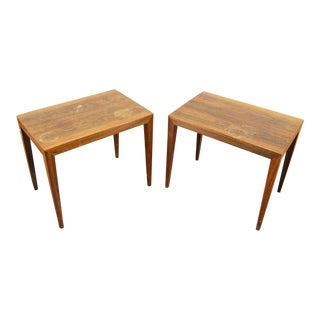 Pair of Severin Hansen Rosewood Side Tables For Sale