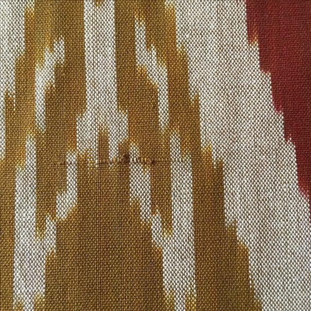 Handwoven Uzbek Ikat Fabric - 3 Yards - Image 6 of 10