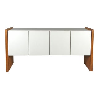 Vintage Milo Baughman for Thayer Coggin Walnut & Lacquered Cabinet For Sale