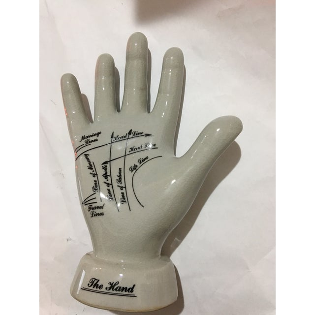 English Palmistry Ceramic Hand - Image 3 of 9