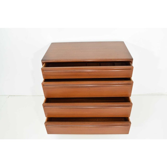 Mid-Century Modern Danish Teak Chest of Drawers For Sale - Image 3 of 6