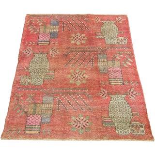 19th Century Tribal Antique Uzbek Samarkand - 6'5'' X 4'4'' For Sale