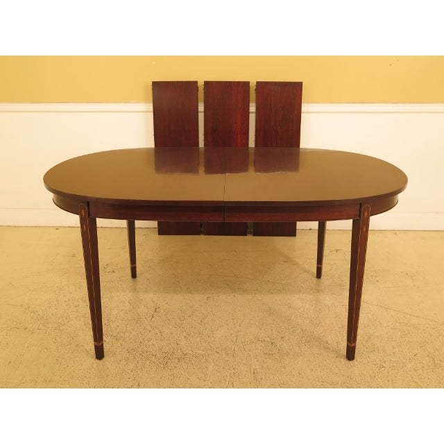 Henkel Harris Inlaid Federal Mahogany Dining Room Table For Sale - Image 13 of 13