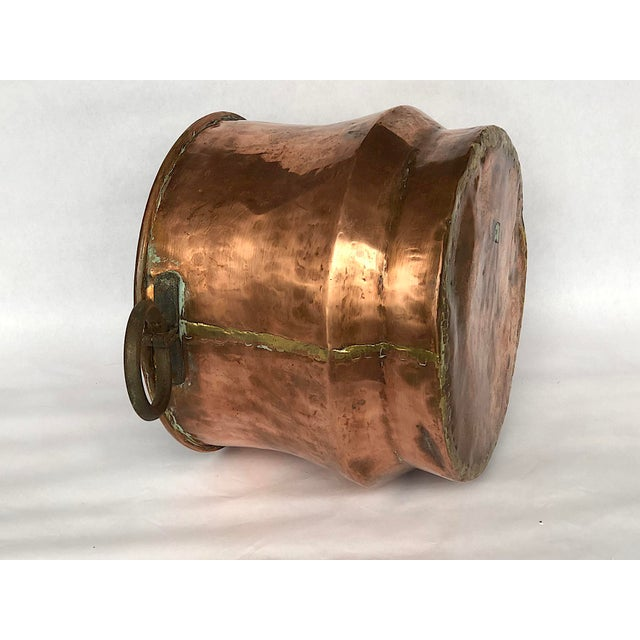 Gold 1940s Country Hammered Copper Cache Pot Planter For Sale - Image 8 of 11