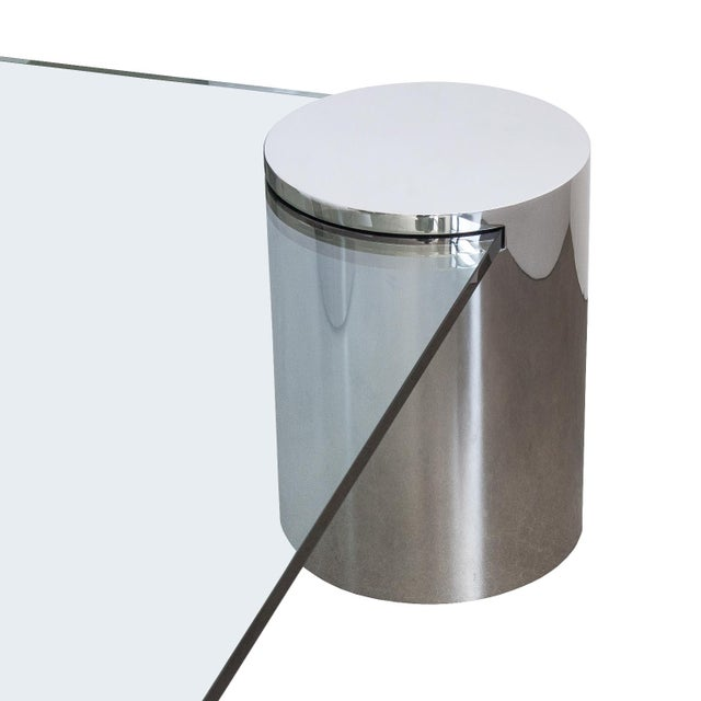 Polished Steel Cantilever Coffee Table - Image 6 of 11