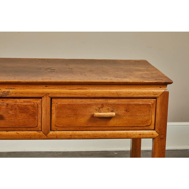 Early 20th Century Early 20th C. French Colonial Tigerwood Console For Sale - Image 5 of 10
