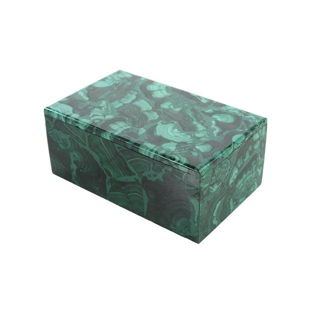 Malachite Antique Lidded Box - Image 1 of 9