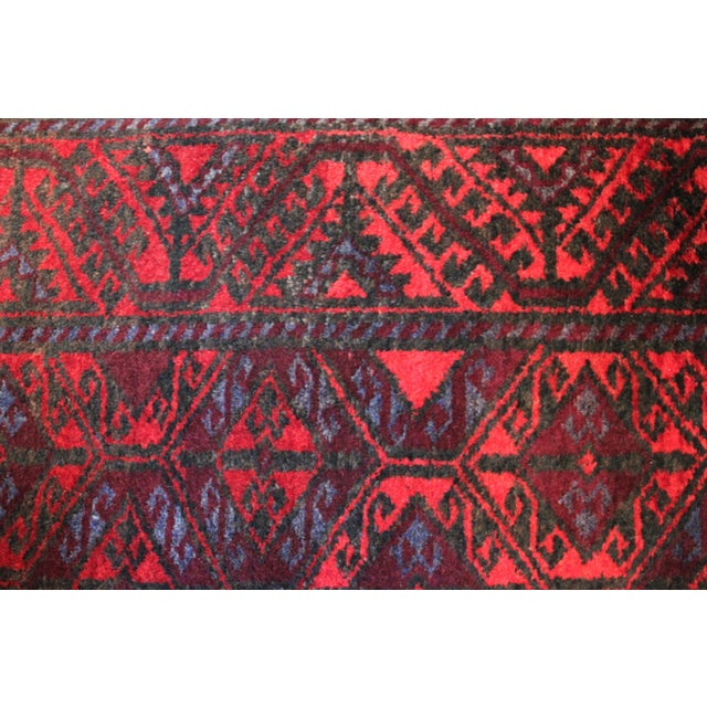 """Red Antique Arak Wool Area Rug - 3'5"""" x 6'8"""" For Sale - Image 8 of 9"""