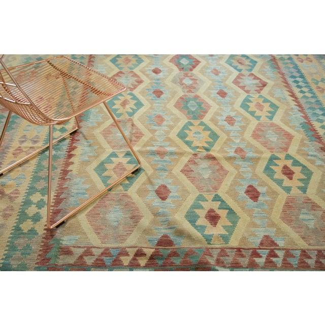"Geometric Medallion Kilim Carpet - 8'2"" X 11'3"" For Sale - Image 4 of 8"
