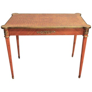 Louis XVI Style Diamond In-Lay Top Writing Table