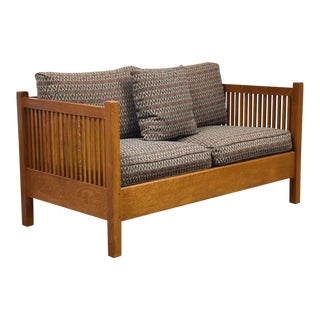 Gustav Stickley Spindled Cube Settee For Sale