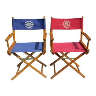 1980s Vintage Nautical Deck Chairs- a Pair For Sale