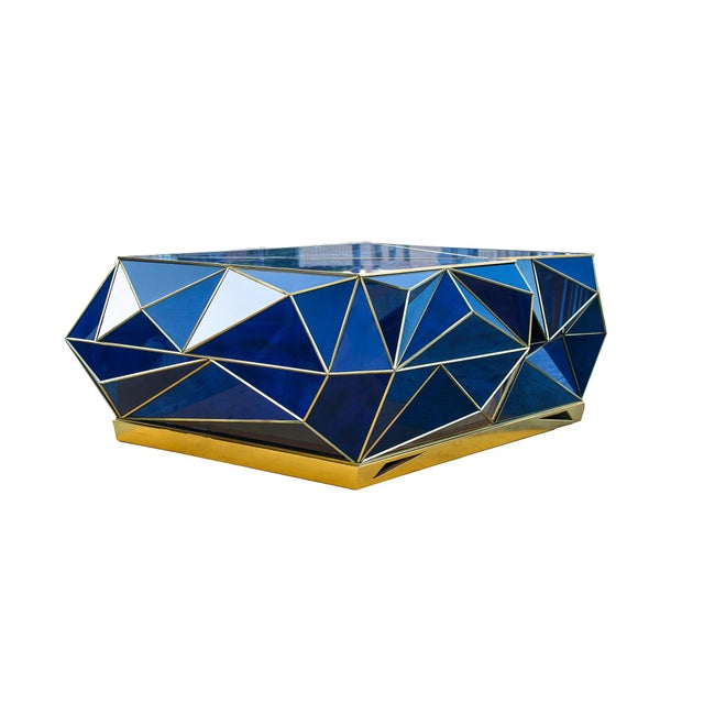 Ploytope Coffee Table in Cobalt by MarGian Studio For Sale - Image 10 of 10