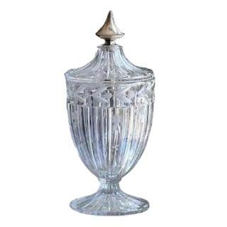Crystal Lidded Jar For Sale