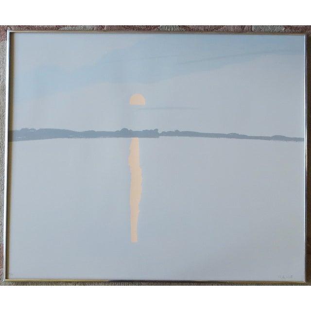 """Lake Wesserunsett II"" Serigraph S/N by Alex Katz - Image 3 of 8"