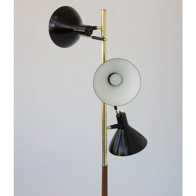 Lightolier Three-Shade Floor Lamp by Gerald Thurston Lightolier For Sale - Image 4 of 11