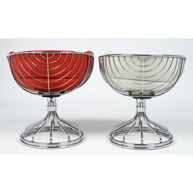 Warren Platner Style Chrome Chairs - A Pair For Sale In Austin - Image 6 of 11