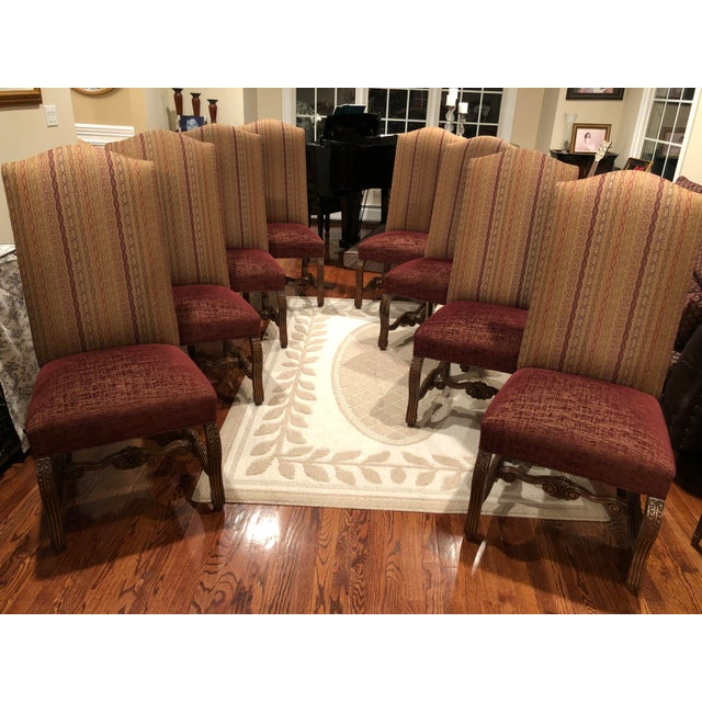 Red Christopher Douglas Dining Chairs - Set of 8 For Sale - Image 8 of 8