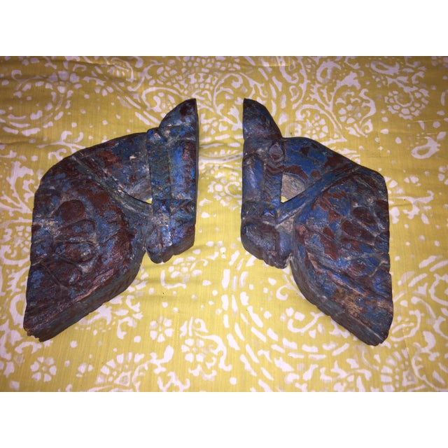 18th Century Rajput Horse Heads - a Pair - Image 10 of 11