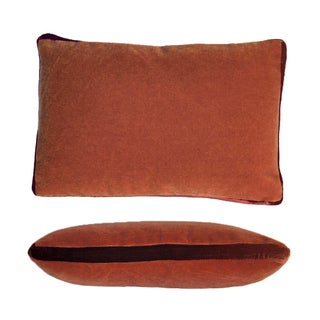 Bark/Rust Mohair Pillow For Sale