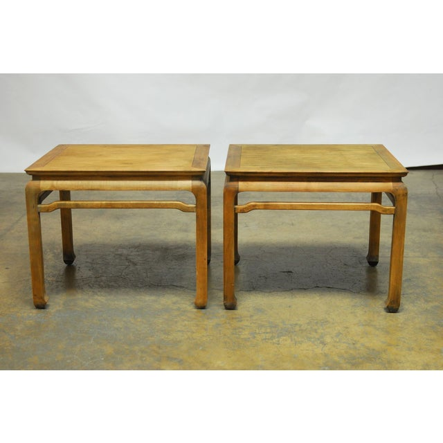 Chinese Carved Ming Style Occasional Tables - Pair - Image 2 of 8