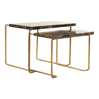 Giania Tables in Gold - A Pair For Sale