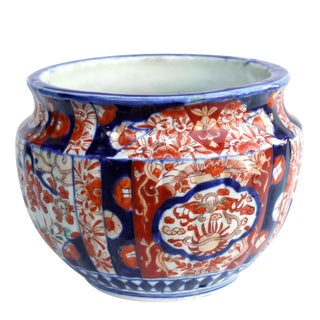 Antique Japanese Imari Planter For Sale