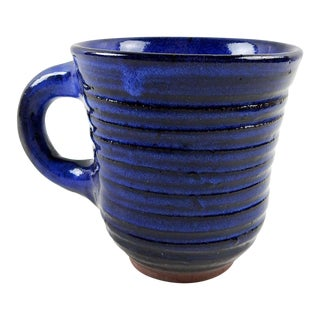 Harding Black Hand Thrown Blue Pottery Mug
