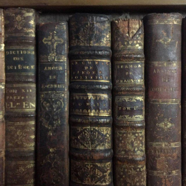 Wood Late 19th Century Panels of 18th Century French Bookbinds For Sale - Image 7 of 11