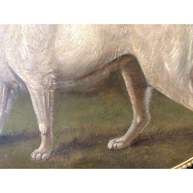 19th Century Antique Dog Portrait Painting For Sale - Image 4 of 6