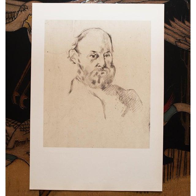 1950s 1959 Paul Cézanne Self-Portrait, Large Hungarian Photogravure For Sale - Image 5 of 8