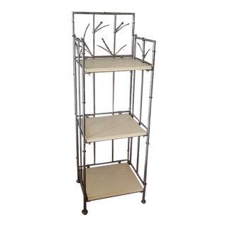 Metal 3 Tier Folding Shelf Unit For Sale