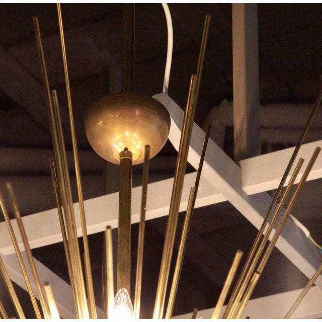 2000s Monumental Brass Sputnik or Urchin Chandelier For Sale - Image 5 of 6
