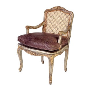 French Provincial Charles Pollock for William Switzer Petit Fauteuil Arm Chair For Sale