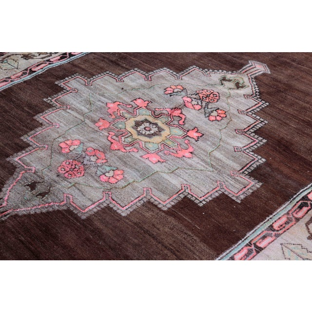 1980s Vintage Handmade Double-Knotted Turkish Rug - 9' 6'' X 5' 11'' For Sale In Baltimore - Image 6 of 13