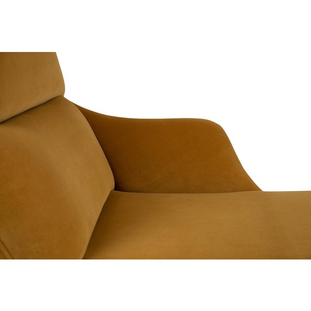 """Vladimir Kagan """"Erica"""" Chaise in Yellow With Lucite Base For Sale In Phoenix - Image 6 of 7"""