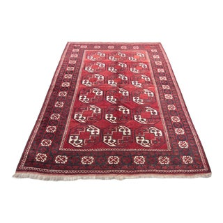 "Antique Turkmen Yomud Wool Rugs - 8'6"" x 6'"