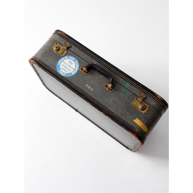 Vintage Suitcase With Travel Stickers - Image 7 of 7