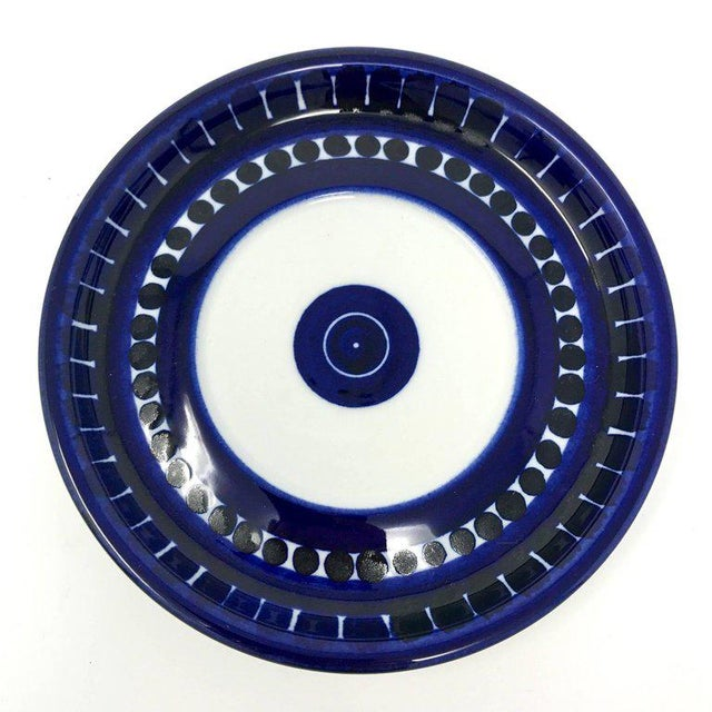 Blue 1960s Scandinavian Modern Ulla Procope for Arabia of Finland Valencia Cup and Saucer - 2 Pieces For Sale - Image 8 of 13