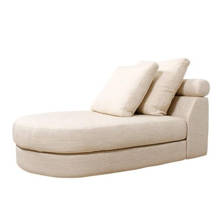 1980s Mid-Century Modern Roche Bobois Chaise Lounge For Sale