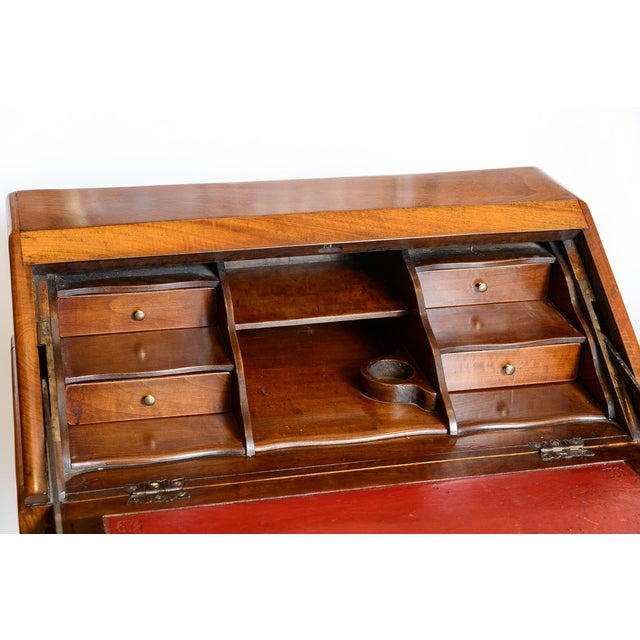 Early 20th Century French Cherry Slant Front Desk For Sale - Image 5 of 9