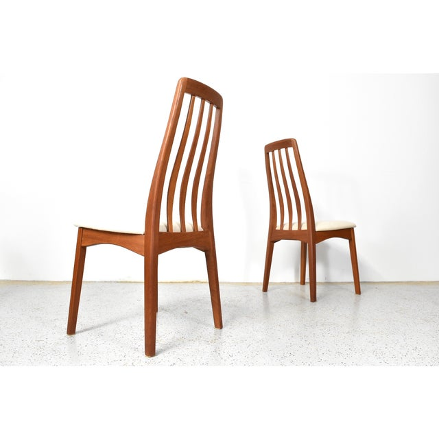 Benny Linden Teak Highback Dining Chairs - 6 - Image 4 of 11