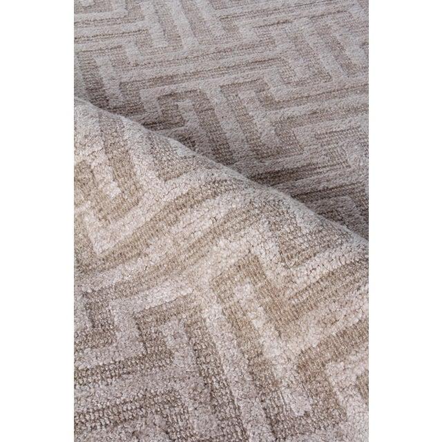 2020s Exquisite Rugs Bazas Handwoven Cotton & Viscose Beige - 12'x15' For Sale - Image 5 of 8