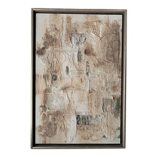 "1960s Vintage Michael Rossi ""Old City"" Mixed Media Collage For Sale"