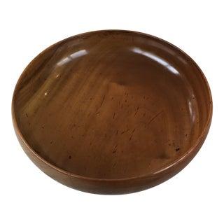Vintage Mid Century Modern Turned Wood Serving Bowl For Sale