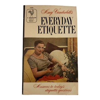 1950s Vintage Amy Vanderbilt's Everyday Etiquette Book For Sale