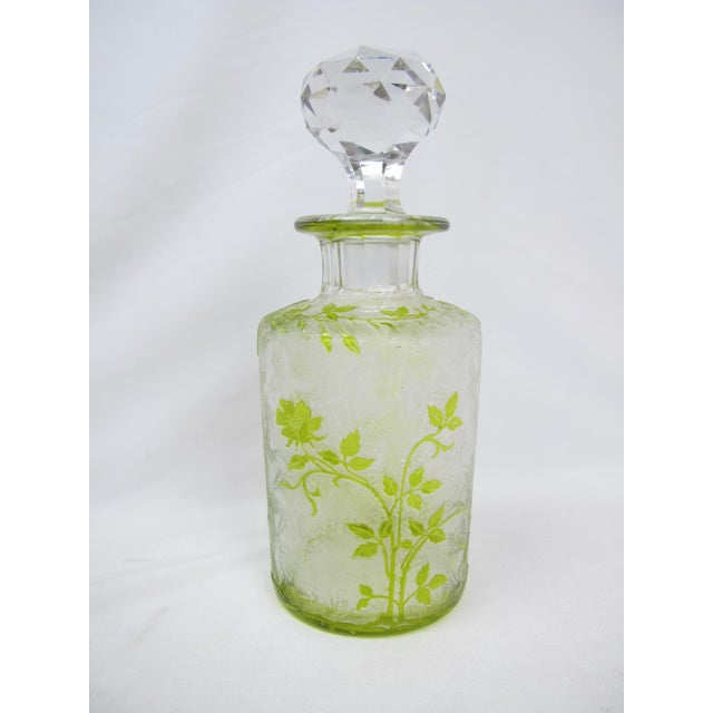 Glass Vintage Czech Cameo Glass Briar Roses Vanity Bottle For Sale - Image 7 of 7