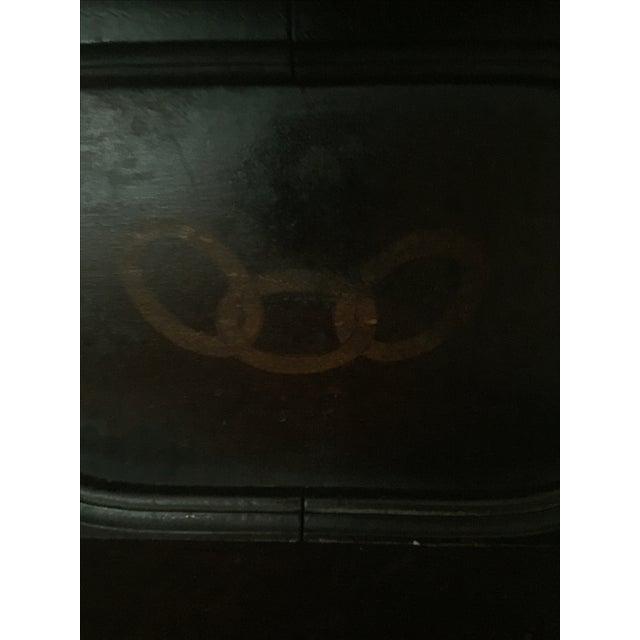 Antique Masonic Freemasonry Wood Shelf - Image 4 of 11