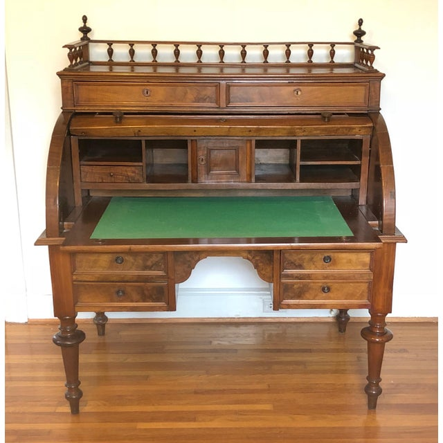 Victorian Style Rolltop Desk For Sale - Image 9 of 10